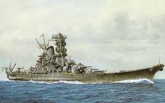 warship art | Portrait of the Yamato by T. Yuki.