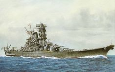 warship art | Portrait of the Yamato by T. Yuki.