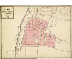 Plano de Coquimbo de 1836 por Claudio Gay