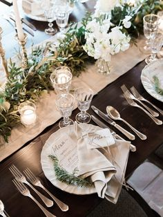 Our idea of rustic elegance in a table setting should look like!
