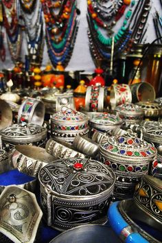 Berber trinkets in the High Atlas Mountains, Morocco