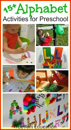 15+ Preschool Alphabet Activities, free printables, games, snacks and more!