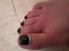black pedicure shellac  by eirini322 - Nail Art Gallery nailartgallery.nailsmag.com by Nails Magazine www.nailsmag.com #nailart