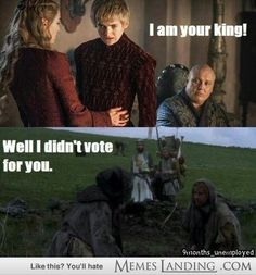 Monty python and game of thrones two of my favs!!
