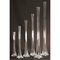 Tall Eiffel Tower Glass Vase Centerpiece, 12-inch, Clear