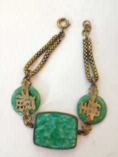 Vintage Bracelet des années 1930 Art déco par AntiqueJewelryForFun
