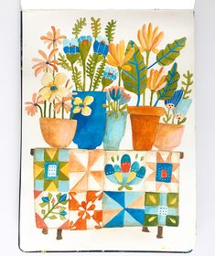 Mona's Plant Table – Lisa Congdon Art + Illustration
