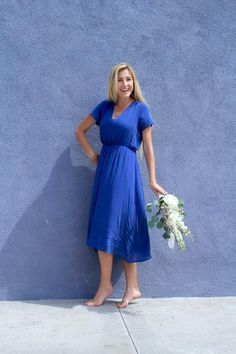 Blue Bridesmaid Dress #modest #bridesmaiddress#blueweddingcolors