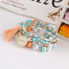 Take Me Away Boho Beaded Tassel Bracelet