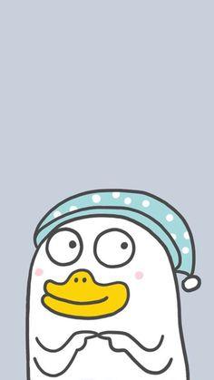 New Wallpaper Iphone, Mood Wallpaper, Graphic Wallpaper, Pink Wallpaper, Wallpaper Backgrounds, Cartoon Pics, Cute Cartoon Wallpapers, Duck Emoji, Little Duck