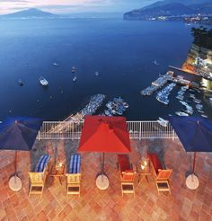 View from the La Minervetta perched on a cliff in Sorrento/small boutique hotel