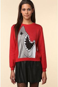 Red shark sweater = $250  Jada would love this - wish it was cheaper.  Time to look for a knockoff.