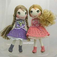 Crochet girl dolls. (Inspiration).