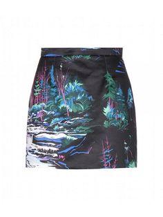 Trend Report: Rave Patterns via @WhoWhatWear. Balenciaga Cotton Skirt ($845)