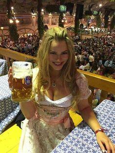 Oktoberfest Outfit, Oktoberfest Beer, German Girls, German Women, Octoberfest Girls, Drindl Dress, Beer Maid, Beer Girl, Beer Festival