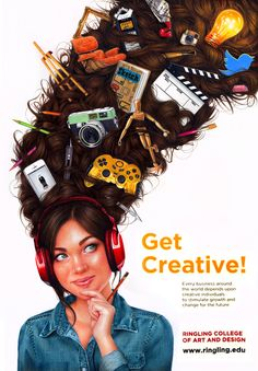 Ringling College Admissions Poster, 2013 by Morgan Davidson, via Behance
