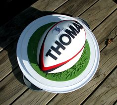 forgive the shape . but here down-under, we play rugby, not american football . Ballon Rugby, Cupcakes, Cupcake Cakes, Rugby Cake, Thomas Birthday Parties, 40th Birthday Cakes, Ball Birthday, Shirt Cake, Unique Cakes