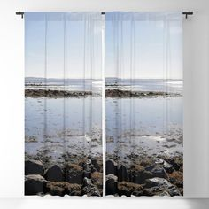 Shore of stones Blackout Curtain by viivaniina Blackout Windows, Blackout Curtains, Window Curtains, Nature Decor, Curtain Rods, All Over The World, Invite, The Neighbourhood, Nature Photography