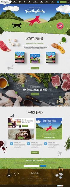 Forthglade – Landing page by Jess Caddick