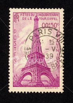 Vintage French Stamp 1939, Ephemera.