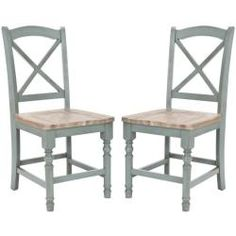 @Overstock - These wooden x-back chairs are a quality addition to any room. The pale blue stain is easy on the eyes, and the color scheme will bring a cool touch to your dining room or sitting area.http://www.overstock.com/Home-Garden/Provenical-X-Back-Pale-Blue-Side-Chairs-Set-of-2/6240329/product.html?CID=214117 $236.69