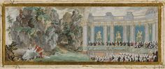 La marquise de Pompadour dans une scène de l'opéra « Acis et Galathée » 1749