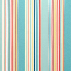 "P/Kaufmann Outdoor Deck Chair Stripe Caribbean Blue 54"" Fabric -- Sold by the Yard"