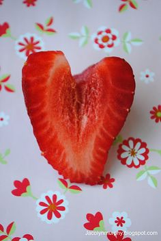 Strawberry Valentine Hearts for Class Party