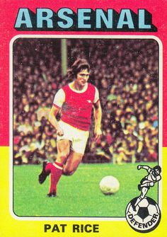 Pat Rice of Arsenal in International Football, Arsenal Fc, 1970s, Rice, Baseball Cards, Sports, Football Soccer, Hs Sports, Arsenal F.c.