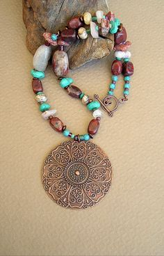 BOHO Stone Necklace Boho Cowgirl Jewelry Western by BohoStyleMe
