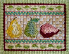 Interpreting a Needlepoint Pattern: Pear Trio - Stitch Details