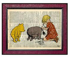 WINNIE The POOH & FRIENDS 2 Kids Wall Art by DogEarPrints on Etsy, $12.00