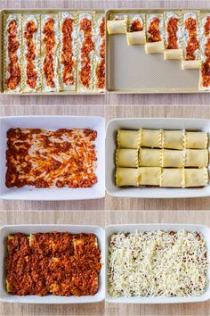 lasagna recipe Lasagna Roll Ups combine the best of classic Lasagna (beefy, saucy and cheesy) but are much easier to serve. This is a make-ahead, freezer-friendly recipe. I Love Food, Good Food, Yummy Food, Tasty, Roll Ups Recipes, Lasagna Recipe Roll Ups, Best Lasagna Recipe, Easy Casserole Recipes, Baked Ravioli Casserole