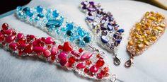 crochet bracelet handmade with natural pearls