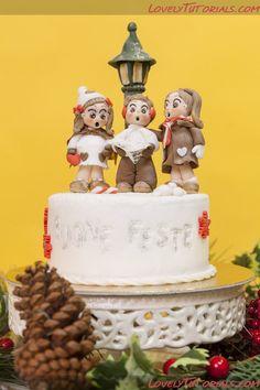 Веселого Рождества -Carolers figurines sculpting step by step - Мастер-классы по украшению тортов Cake Decorating Tutorials (How To's) Tortas Paso a Paso