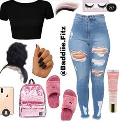 Really Cute Outfits, Cute Lazy Outfits, Swag Outfits For Girls, Cute Swag Outfits, Teenager Outfits, Simple Outfits, Trendy Outfits, Skater Girl Outfits, Boujee Outfits