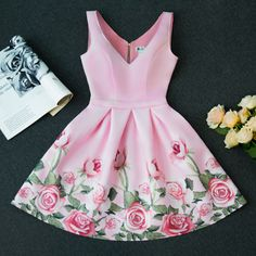 Pageant Dresses For Women, Floral Homecoming Dresses, Blush Prom Dress, Lovely Dresses, Stylish Dresses, Simple Dresses, Short Dresses, Cute Fall Outfits, Chic Outfits