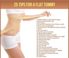 25 Tips for a Flat Tummy
