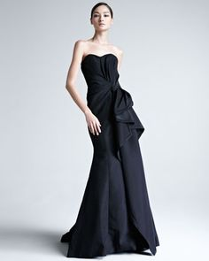 Faille Strapless Gown by Carolina Herrera at Neiman Marcus. I love everything about this.