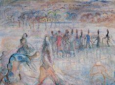 Tóth Menyhért , Halászat , 1960-as évek eleje, Olaj, Vászon Painting, Art, Painter