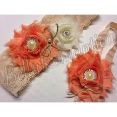 A personal favorite from my Etsy shop https://www.etsy.com/listing/152124796/rustic-wedding-peach-garter-rustic