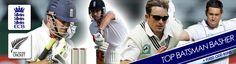 England vs New Zealand Test Series - Top Batsman Basher Promotion Real Player, Test Cricket, Premier League, Promotion, England, Football, Baseball Cards, Sports, Top