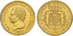 NumisBids: Nomisma Spa Auction 50, Lot 357 : Carlo Felice (1821-1831) 40 Lire 1825 G – Pag. 41; Mont. 25 AU RR...