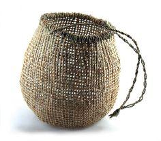 Tasmanian Aboriginal traditional twined basket, White Iris, 22x19cm http://rralamantamanta.wordpress.com/artists/