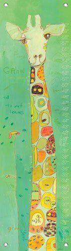 Oopsy daisy Grow Giraffe Growth Chart by Jennifer Mercede  12 by 42 Inches: http://www.amazon.com/Oopsy-daisy-Giraffe-Jennifer-Mercede/dp/B002UUTH5W/?tag=greavidesto05-20