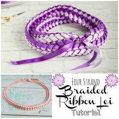 Braided Four Strand Ribbon Lei Tutorial - used this braid on homecoming mums years ago and had forgotten how to do it....
