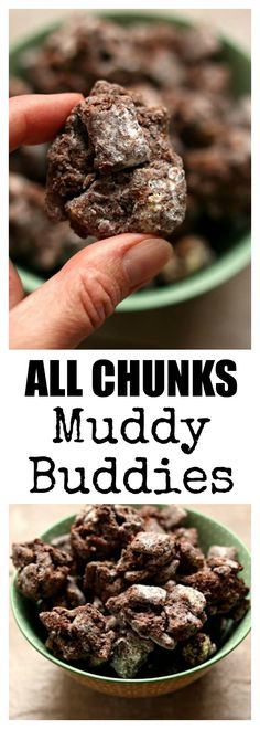 Chunky Muddy Buddies–do you love chex muddy buddies but wish there were more of the stuck together chunks? I prefer my muddy buddies this way too and have tweaked the recipe so that it's basically all chunks. More peanut butter, more chocolate, more deliciousness. #dessert #chocolate #peanutbutter #muddybuddies