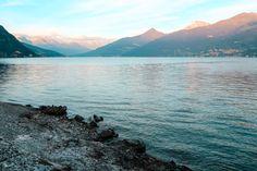 Lac de Côme à Managgio en Lombardie