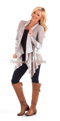 Cream Aztec Open Caridgan | Fall Cardigan | Trendy Modest Clothing