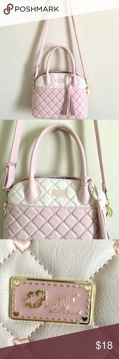Luv Betsey by Betsey Johnson Pink Quilted Purse This Betsey Johnson purse is in new condition. The tags have been removed because I wore it once; other than this, there is no sign of use. This is a lightweight purse. Betsey Johnson Bags Shoulder Bags